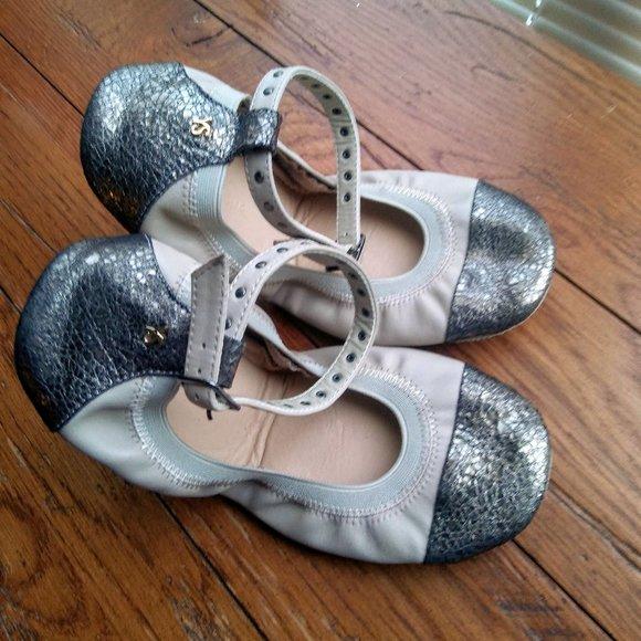 Yosi Samra Abbey Sz 7 ballet flat w/ ankle strap